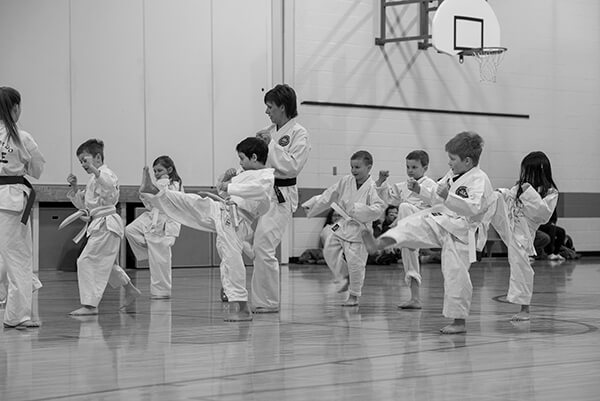 Mini Taekwon-do students