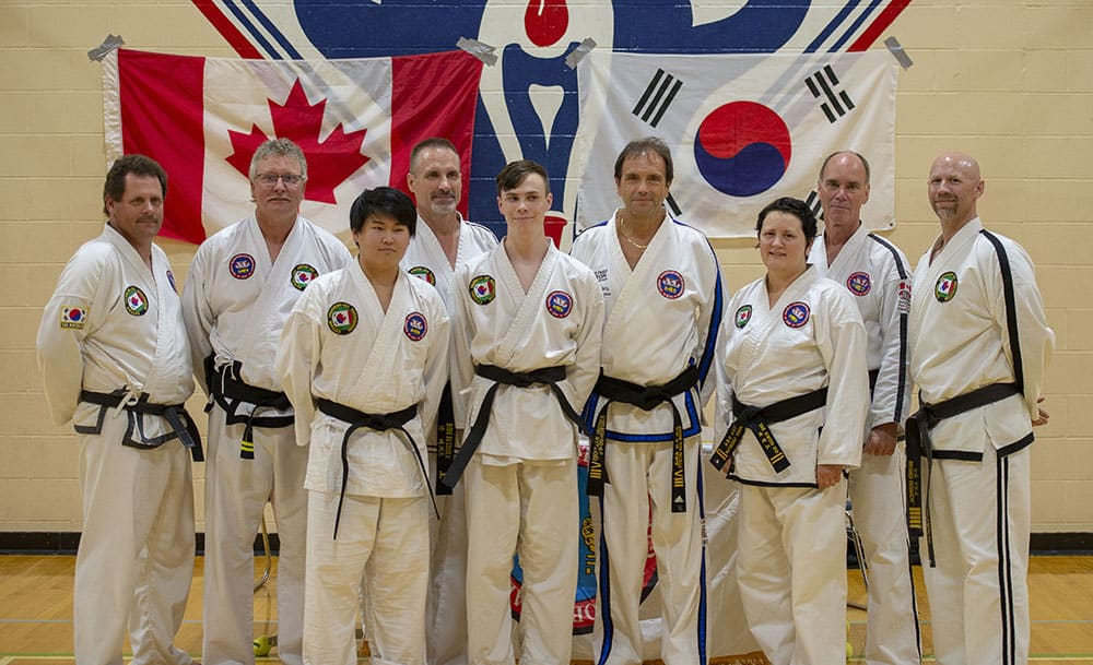 Black belts after testing and Seminar